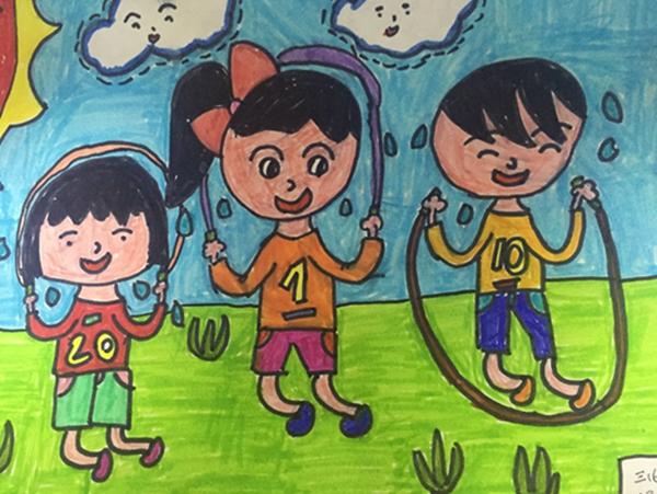 小学部第六届体育节运动会——绘画比赛图片